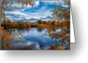 Church Photo Greeting Cards - Church Across The River Greeting Card by Bob Orsillo