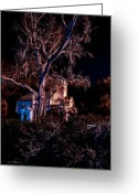 Ocularperceptions Greeting Cards - Church At Night Greeting Card by Christopher Holmes