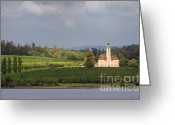 Growing Water Greeting Cards - Church Birnau Lake Constance in great landscape Greeting Card by Matthias Hauser