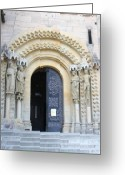 Bamberg Greeting Cards - Church Door -Cathedral Bamberg - Germany Greeting Card by Christiane Schulze