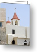 Stucco Walls Greeting Cards - Church in Acre Greeting Card by Igor Kislev