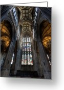 Archway Greeting Cards - Church Interior Greeting Card by Adrian Evans