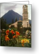 Nestled In Greeting Cards - Church Nestled in the Mountains Greeting Card by Shawn Hughes