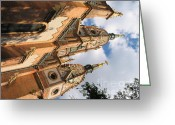 Screen Doors Greeting Cards - Church Greeting Card by Odon Czintos