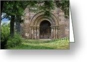 Sacred Photo Greeting Cards - Church of Bredons.Cantal. France Greeting Card by Bernard Jaubert