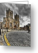 Clock Greeting Cards - Church of England Greeting Card by Adrian Evans