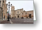 Cityhall Greeting Cards - Church Of Santa Severina Greeting Card by Gualtiero Boffi