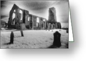 Silver Gelatin Greeting Cards - Church of St Andrew Greeting Card by Simon Marsden