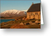 Lake Tekapo Greeting Cards - Church of the Good Shepherd Greeting Card by Andrew Dickman