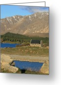 Lake Tekapo Greeting Cards - Church of the Good Shepherd Greeting Card by Jan Lawnikanis