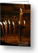 Ceremonies Greeting Cards - Church of the Holy Sepulchre Jerusalem Greeting Card by Shay Levy