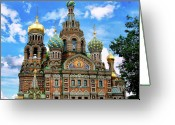 Khram Spasa-na-krovi Greeting Cards - Church of the Spilled Blood Greeting Card by Gary Little