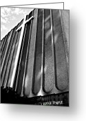 Clayton Photo Greeting Cards - Church on Adam Clayton Powell Blvd Greeting Card by Sarah Loft