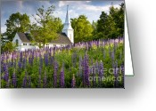 Grafton County Greeting Cards - Church on Sugar Hill Greeting Card by Susan Cole Kelly