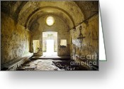 Passage Greeting Cards - Church Ruin Greeting Card by Carlos Caetano