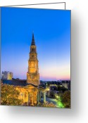 Rehabilitate Greeting Cards - Church St. Dusk  Greeting Card by Drew Castelhano