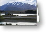 Lake Tekapo Greeting Cards - Church With a View Greeting Card by Jan Lawnikanis