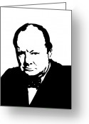 Politics Greeting Cards - Churchill Greeting Card by War Is Hell Store