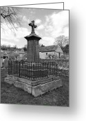 Dry Stone Wall Greeting Cards - Churchyard Memorial at Ashford-in-the Water Greeting Card by Rod Johnson