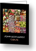Mango Digital Art Greeting Cards - Cibus Greeting Card by John Eckhardt