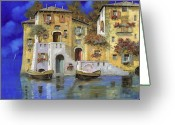 Lakescape Greeting Cards - Cieloblu Greeting Card by Guido Borelli