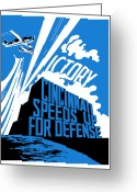 Military Production Greeting Cards - Cincinnati Speeds Up For Defense Greeting Card by War Is Hell Store