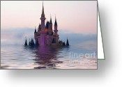 Cinderella Greeting Cards - Cinderella Castle Greeting Card by Teresa Zieba