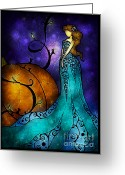 Stained Greeting Cards - Cinderella Greeting Card by Mandie Manzano