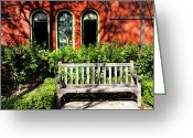 Park Benches Greeting Cards - Cinderella Story Greeting Card by Mariola Bitner