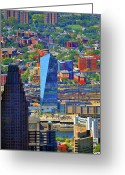 Aerials Greeting Cards - Cira Centre 2929 Arch Street Philadelphia Pennsylvania 19104 Greeting Card by Duncan Pearson