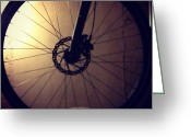 Bicycle Greeting Cards - #circle #bicycle #wheel Greeting Card by Christy I