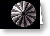 Gray Greeting Cards - Circle Greeting Card by Bob Orsillo