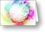 Ethereal Water Greeting Cards - Circle Of Life Greeting Card by Setsiri Silapasuwanchai