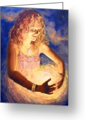 Amulet Greeting Cards - Circle of Love Greeting Card by Joyce Huntington