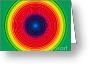 Gradient Greeting Cards - Circle X-ray Greeting Card by Atiketta Sangasaeng