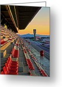Spectacle Greeting Cards - Circuit de Catalunya - Barcelona  Greeting Card by Juergen Weiss