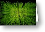 Warp Greeting Cards - Circuit Zoom Greeting Card by Jerry McElroy