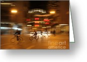 U2 Photo Greeting Cards - Circular  Motion Greeting Card by George  Saitas