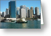 Sydney Harbour. Circular Quay Greeting Cards - Circular Quay Sydney Greeting Card by Adrianne Wood