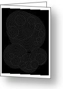 Carved Digital Art Greeting Cards - Circular Sunday Inverse Greeting Card by Dean Caminiti