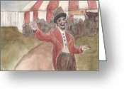 Ringleader Greeting Cards - Circus Greeting Card by Adam  Wallander