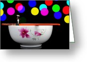 Kid Digital Art Greeting Cards - Circus balance game on chopsticks Greeting Card by Mingqi Ge