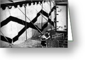 Old Street Photo Greeting Cards - Circus conversation Greeting Card by Silvia Ganora