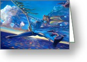Orb Greeting Cards - Cirque du Sole Greeting Card by Patrick Anthony Pierson