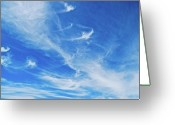 Thin Greeting Cards - Cirrus Greeting Card by Cesar Marino