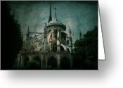 Notre Dame Greeting Cards - Citadel Greeting Card by Andrew Paranavitana