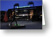 Citizens Bank Park  Greeting Cards - Citizens Bank Park Greeting Card by Andrew Dinh