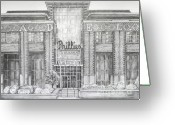  Parks Drawings Greeting Cards - Citizens Bank Park Greeting Card by Juliana Dube