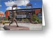 Phillies Photo Greeting Cards - Citizens Park 1 Color Greeting Card by Jack Paolini