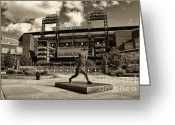 Phillies Greeting Cards - Citizens Park 1 Greeting Card by Jack Paolini